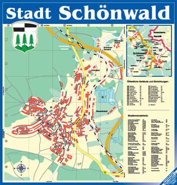 Stadtplan Schönwald
